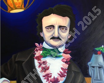 """Art Print """"Poe Escapes"""" by Heather Welch"""