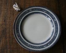 Losol Ware Dinner Plate Burslem Flow Blue and White China Pattern Tableware Salt Glazed Plates Wall Display Food Styling Keeling & Co.