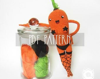 PDF PATTERN - EN - Crochet photo-tutorial for amigurumi - Kinky Karrot