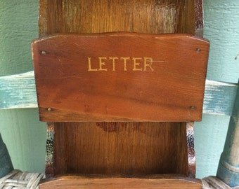 American eagle vintage wooden letter file,retro mail file,retro mud room,Americana,vintage kitchen,retro kitchen,classic wooden letter,1970'