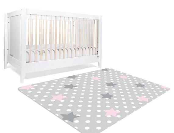star rug moon and stars nursery star nursery pink and grey. Black Bedroom Furniture Sets. Home Design Ideas