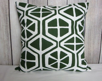 Throw Pillow. Floral Pillow. Pillow Cover. Green Pillow. Juniper Green Pillow. Green White Pillow