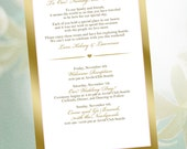 20 Wedding Itinerary, programs, schedules, reception menu, welcome letters, invites, Navy chevron on silver design for wedding welcome bags,