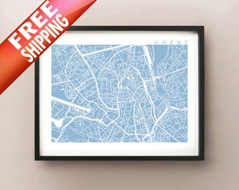 Ghent Map Print - Belgium Poster