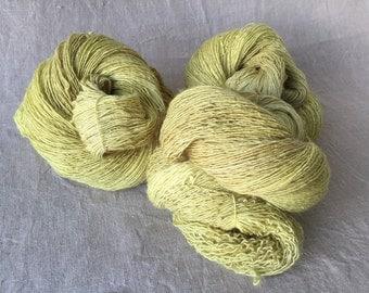 hand-dyed Merino silk yarn, made from natural raw materials, purple beech