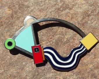 Zanini for ACME Studios ~ Enameled Pin Post Modern