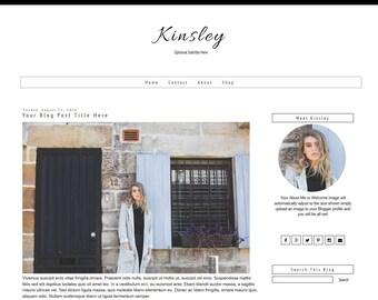 Blogger Template - Minimal Blog Template - Modern Blogger Template - Black Template - Mobile Responsive