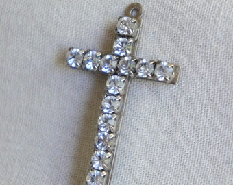 Vintage crucifix adorned cross vintage cross rhinestone cross cross pendant vintage rhinestone cross from The Jeweler's Wife.