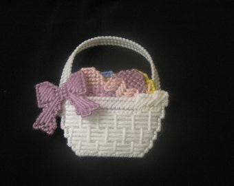 Plastic Canvas Basket of Easter Eggs Magnet