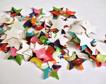 Sweet Table Star Confetti - 100pcs - Rainbow/Apple/Banana/Beans/Jelly
