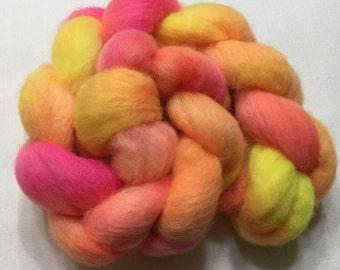 Corriedale, 4.1oz, Wool, Roving, Top, Hand dyed, Felting, Fiber, C116
