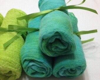 2yds, Cotton Cheese Cloth, Gauze, Felting, fabric Gauze, Hand Dyed, Photo Prop,