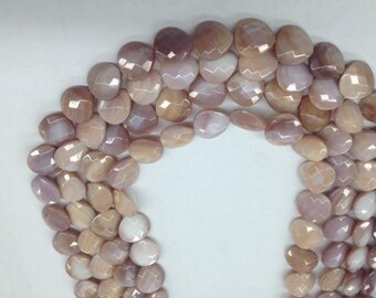 Pink Faceted Shell heart shape 15x15mm 26-27pc