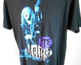 Vintage - 1994 Concert T Shirt Melissa Etheridge - Speak True - Yes I Am - Black LG