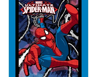 Marvel Comics Spiderman Fabric By the Panel