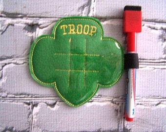 Girl Troop - In the hoop -  Tic Tac Toe Board Game -DIGITAL EMBROIDERY DESIGN