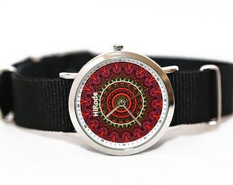 WATCH - Spotted - Kaleidoscope Mandala style watch