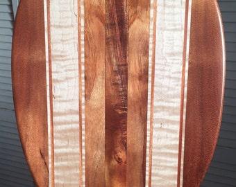 Koa Wood & Curly Maple Paddle - Hawaiian Outrigger Canoe Paddling