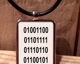Binary Love Necklace
