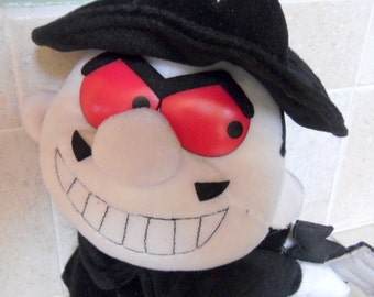 """Vintage plush doll from Rocky & Bullwinkle.  Boris Badenov is 14"""" tall, but untagged.  Good condition."""
