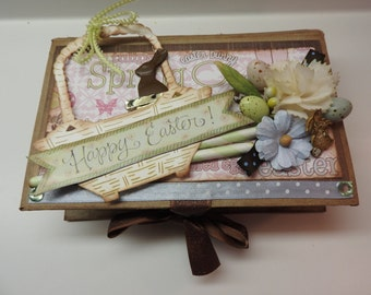 Happy Easter Photo Box Scrapbooking