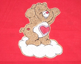 Care Bear Tenderheart Teddy Bear Iron on No Sew Embroidered Patch Applique