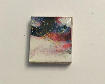 Scrabble Pendant - Watercolor 06