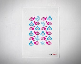 Whales Tea Towels