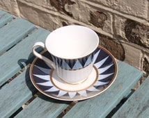 Mappin and Webb  Tea Cups and Saucer  for Afternoon Tea. Venetian Pattern Designed by Viscount David Linley. Four Sets Available.