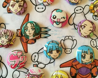 Pretty Cure Button Earrings