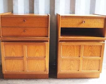 Pair of Vintage Nathan Bedside Cabinets - Solid Teak