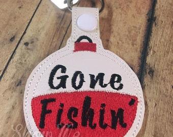 Bobber Gone Fishin Key Fob