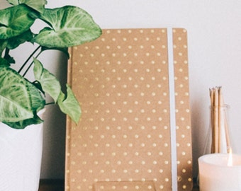 A4 Gold Polka Notebook