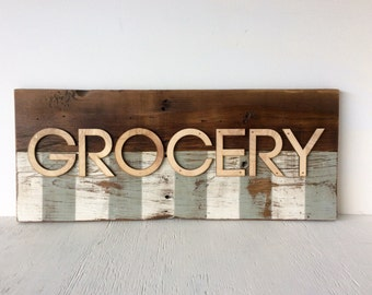 Grocery Barn Wood Wall Sign