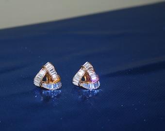 Baggette  Style ClipOn Earring