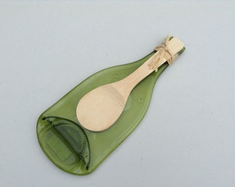 Spoonrest Upcycled Glass Bottle