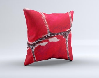 Grungy Scratched Surface V3 ink-Fuzed Decorative Throw Pillow