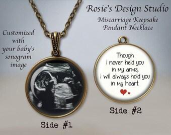 Miscarriage Keepsake Pendant Necklace - Your Baby's SONOGRAM - Ultrasound Necklace - Baby Sonogram Jewelry - Baby Memorial Jewelry