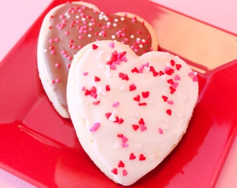 Valentine Heart Sugar Cookies – 1 Dozen – Cookies Come Packaged as a Valentine's Gift