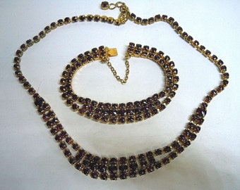 Fantastic Bohemia garnet jewelry set around 1880