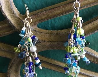 Beautiful Blue & Green Earrings