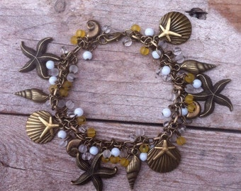 She sells sea shells charm bracelet