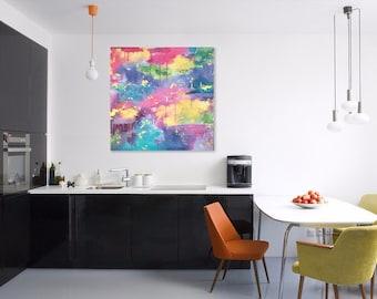87 - original abstract painting (acrylic on canvas) wall art interior design homedecor