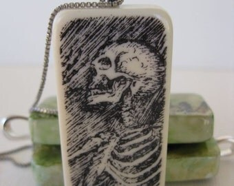 Skeleton -- Altered Domino Pendant