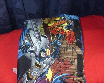 Seat belt cuff from Batman fabric