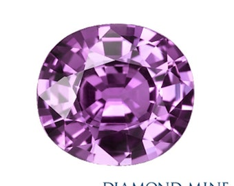 A Beautiful NaturalSapphire 2.24 Purple Cushion Extra