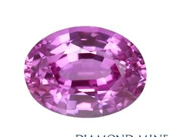 1.75 Carat Pink Sapphire, Oval cut Sapphire, Loose Sapphire Gemstone, Pink Gemstone, Non Heated Real Sapphire