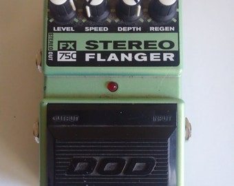 DOD Digitech FX75c Stereo Flanger - Vintage Analog Guitar Effect Pedal
