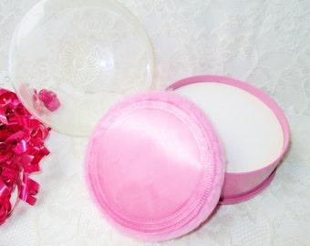 Flower Song Perfumed Bath Powder Vintage NIB Sealed Michael Duval New York 5oz Pink w Puff Body Beauty Dusting After Bath Valentine Gift Her