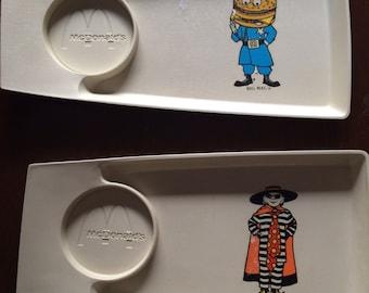 Vtg McDonalds happy meal tray set
